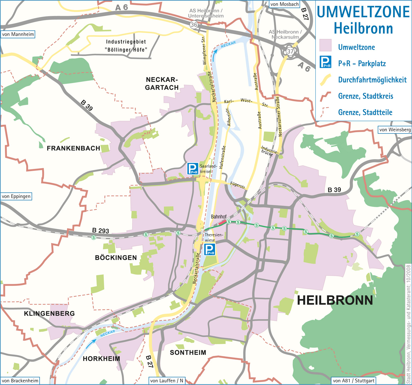 Region Heilbronn Franken Karte.Umweltzone