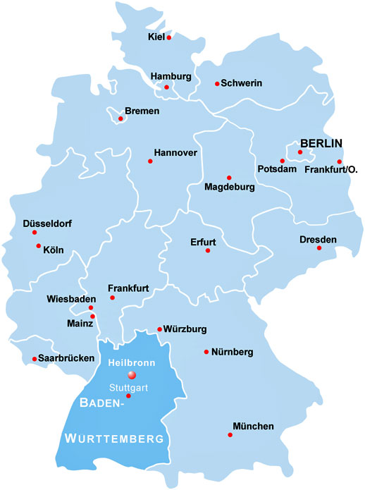 heilbronn deutschlandkarte Orientierung